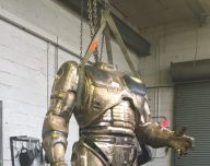 Crowdfunded 'Robocop' statue nears completion in Michigan
