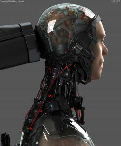 Robocop Illustration AsseblyTable V14 Brain FDeMartini 020234