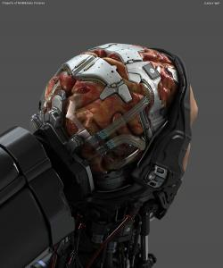 Robocop Illustration AsseblyTable V21 Brain FDeMartini 020234