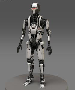 Robocop Illustration EB207 V01 White FDeMartini 020234