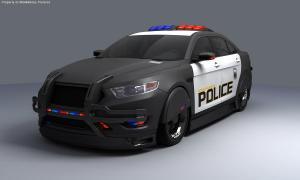 Robocop Illustration PoliceCar V01 FordTaurus FDeMartini 020234