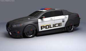 Robocop Illustration PoliceCar V02 FordTaurusExtraArmor FDeMartini 020234