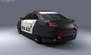 Robocop Illustration PoliceCar V03 FordTaurus FDeMartini 020234