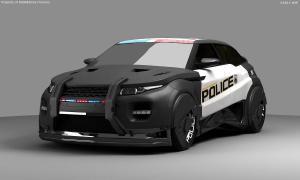 Robocop Illustration PoliceCar V07 Full FDeMartini 020234
