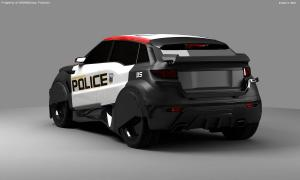 Robocop Illustration PoliceCar V14 Full FDeMartini 020234