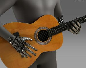 Robocop Illustration ProstheticHand V03 PosedGuitar 020234