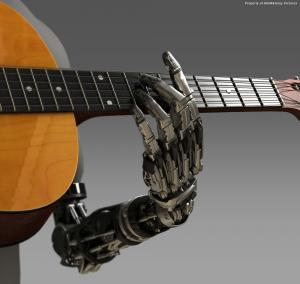Robocop Illustration ProstheticHand V05 PosedGuitar 020234+